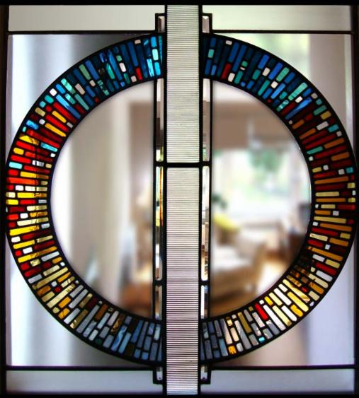 Our favorite stained glass windows for modern homes for Contemporary stained glass